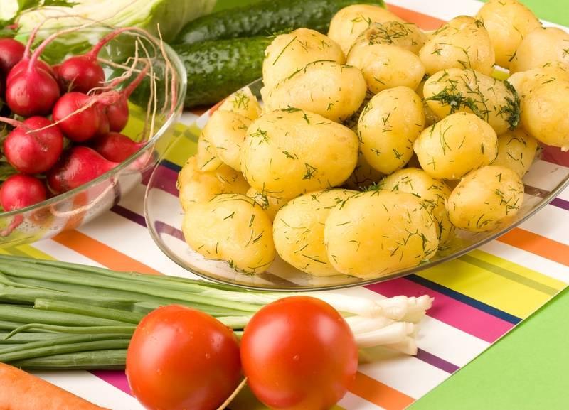 Вареный картофель фото