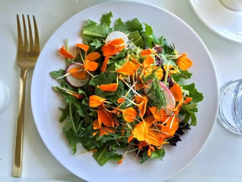 Салат с бархатцами фото