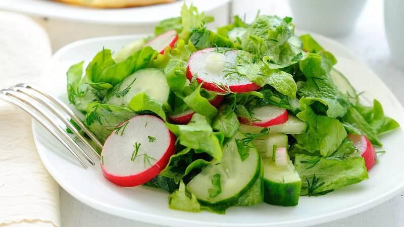 Салат из редиса фото