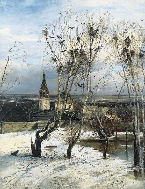 Картина А.К. Саврасова «Грачи прилетели» фото