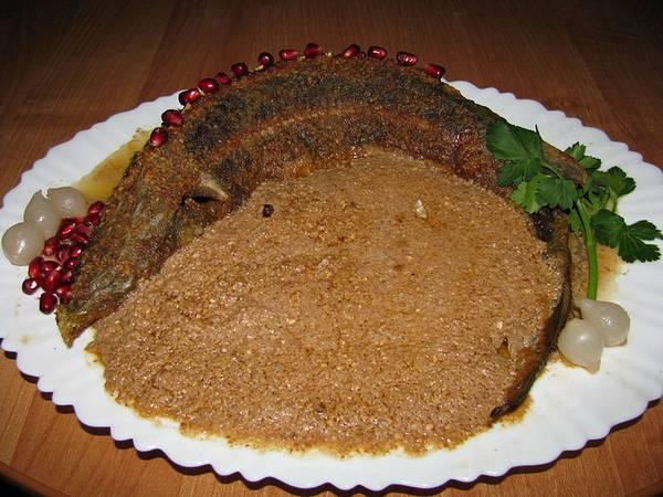 Блюдо из стерляди фото (Acipenser ruthenus)
