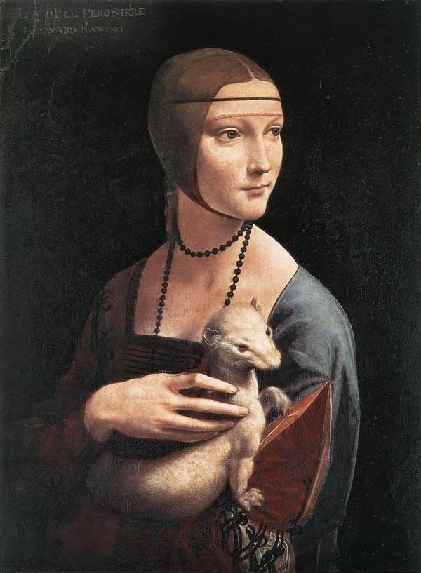 Леонардо да Винчи «Дама с горностаем» фото