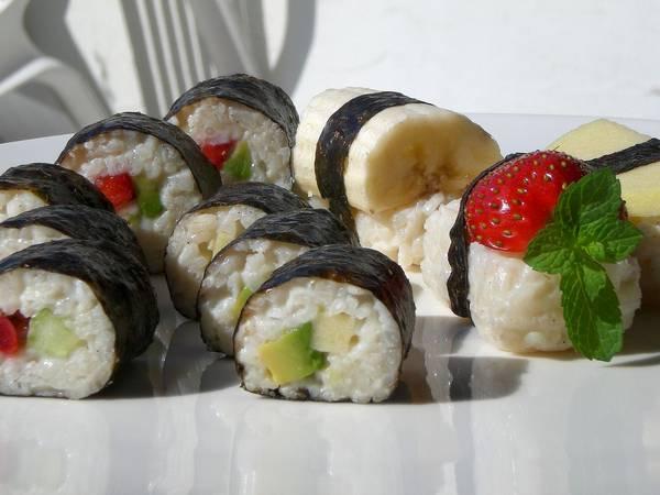 Суши с мятой фото